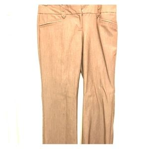 Tan wide legged work slacks